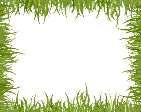 illustrated frame made of blades of grass Stock Photo - 2752171