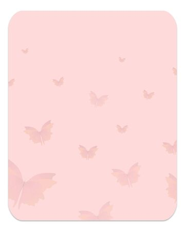 faint: Illustrated rounded rectangle with drop shadow and faint butterflies Stock Photo