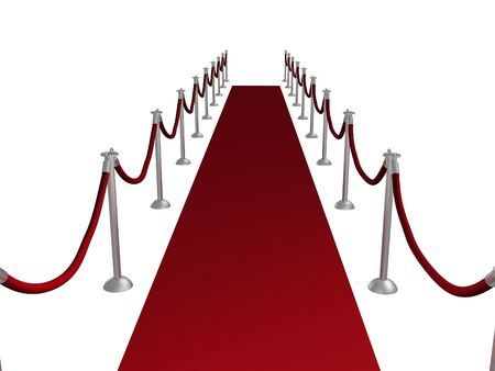Illustration of a red carpet entrance illustration