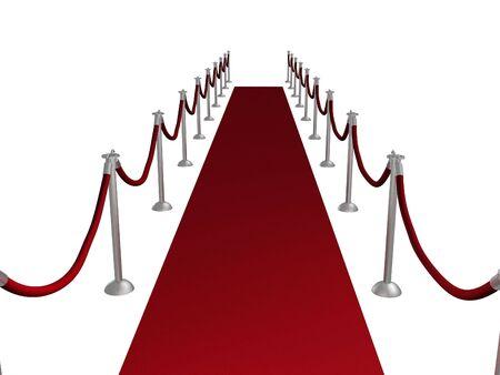 Illustration of a red carpet entrance