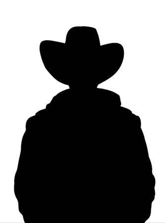 cowboy silhouette: Illustrated Silhouette of a cowboy