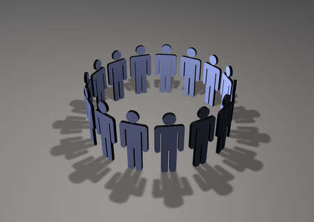 Circle of people in a meeting