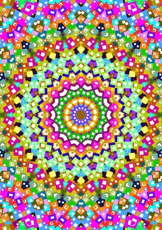 Illustration of a multi-colored kaleidoscopic background Stock Illustration - 2937816