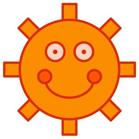 simplistic: Illustration of a simplistic cartoon sun