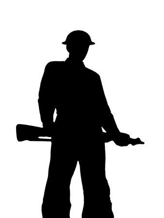 Ilustra la silueta de un soldado Foto de archivo - 3390242