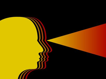 Illustration of a silhouette head Stock Illustration - 6480950