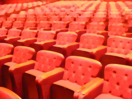 seating: Abstract Illustration of cinema seating Stock Photo