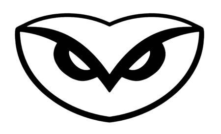 simplistic: Illustration of a simplistic owl head