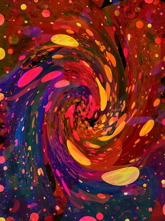 Illustrated abstract grunge twirl of colourful spots Stock Photo - 6759748