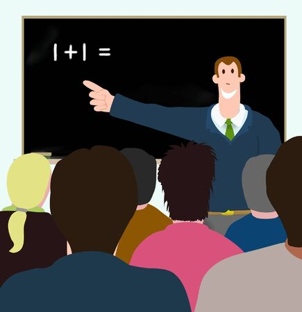 Illustration of man teaching adults Stock Illustration - 6894757