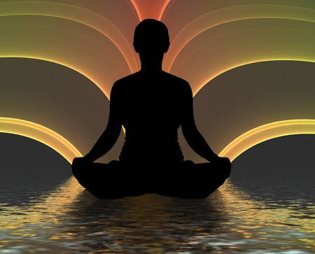 'peace of mind': Illustration of a person meditating