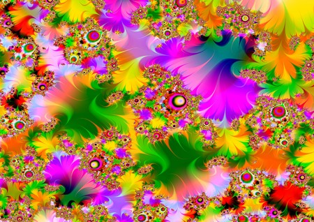 Illustrated psychedelic background Stock Photo - 6894786