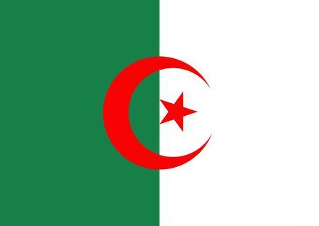 algeria: Illustration of the flag of Algeria