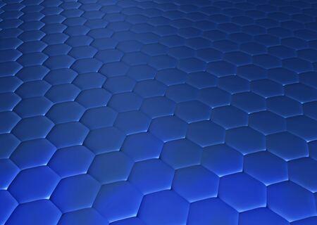 hexagonal: Abstract blue hexagonal background