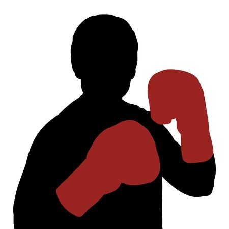 Illustration of a boxer silhouette Stock Illustration - 7008139