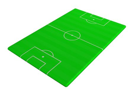 soccer pitch: Illustration of Soccer pitch viewed from a side angle Stock Photo