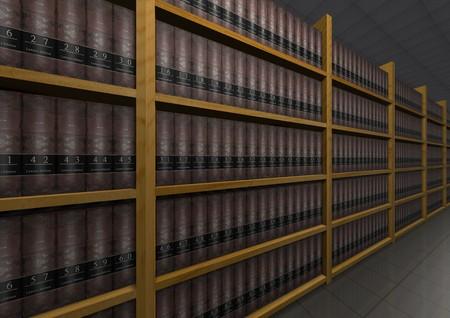 firme: Ilustración de lotes de libros de derecho