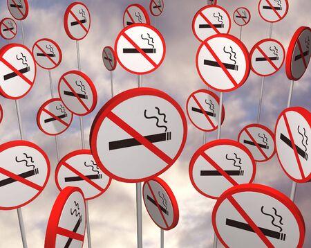 no fumar: No ilustrado signos de fumar  Foto de archivo