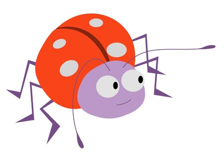 Illustration of an isolated cartoon ladybug Stock Photo