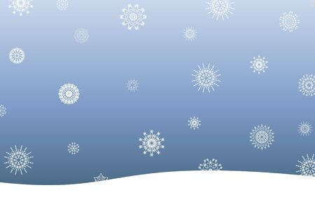 Illustration of a snow scene Stock Illustration - 7393159