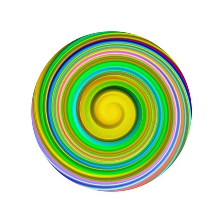 Illustration of a twisted circular shape on a white background Stock Illustration - 7393207
