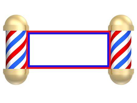 barbershop: Geïllustreerde weergave van een bar ber shop teken omgezet in een schuif