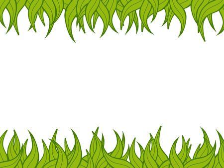 Illustration of a green plant border  Stock Photo