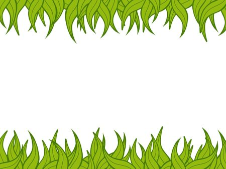 jungle weed: Illustration of a green plant border  Stock Photo