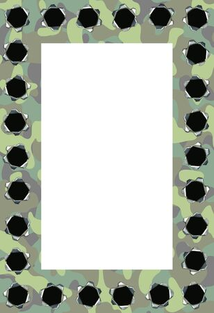 camouflage frame with lots of bullet holes Stock Photo - 7937280