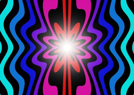 wobbly: Abstract multicoloured background pattern with light