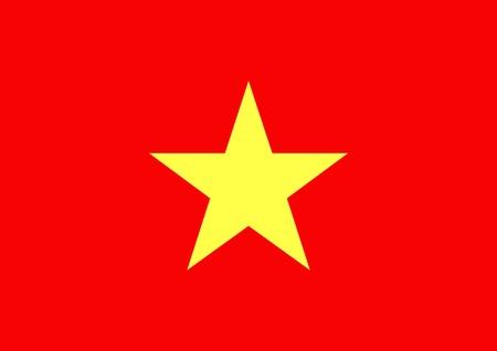 viet nam: Illustrated flag of Vietnam Stock Photo