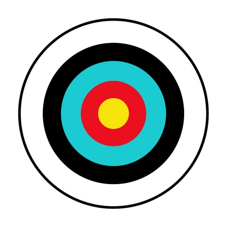 Illustrated target isolated on a white background