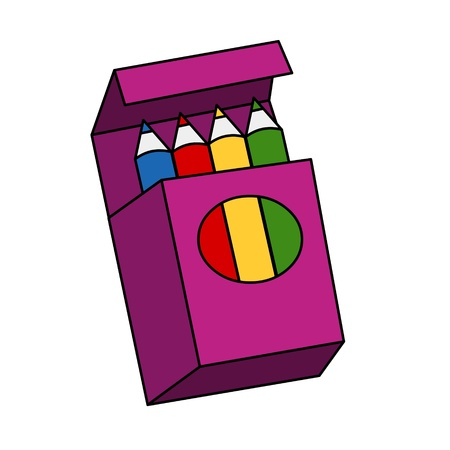 4 crayons in box Stock Photo - 9187352