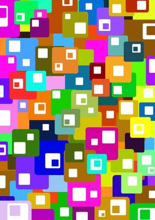 Illustrated colorful background made of squares Stock Photo - 9187378