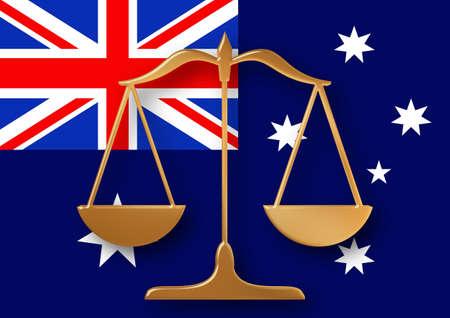 constitucion: Escalas de una bandera de Australia