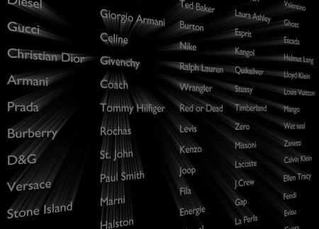 designer labels: Text of famous designer labels