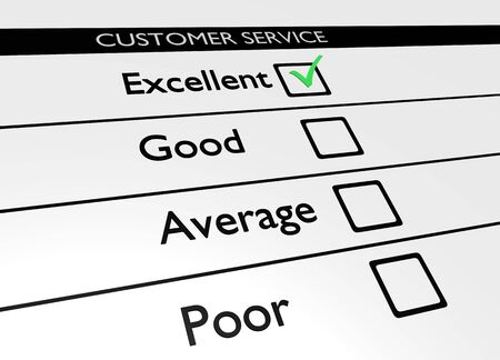 poll: Illustration of a customer service poll