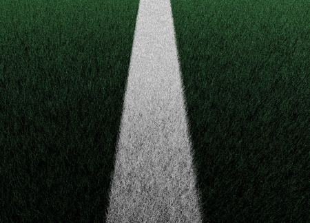 Illustration of a sports pitch white line illustration