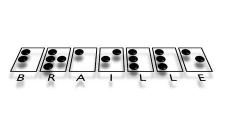 sightless: Illustration of the word Braille  Stock Photo