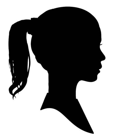 Silhouette of a girls head photo