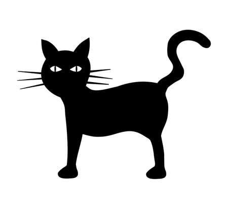 Illustration of a black cat illustration