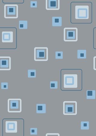 Seamless retro blue squares photo