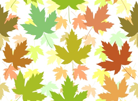 Abstract seamless tile of maple leaves photo