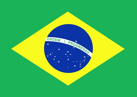 brazil country: Illustrated flag of Brazil Stock Photo