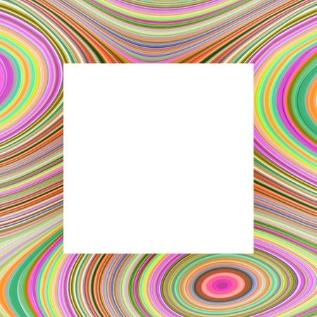 margen: Marco colorido ilustrado con inserto blanco Foto de archivo