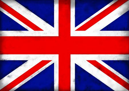 Illustrated grunge flag of the United Kingdom photo
