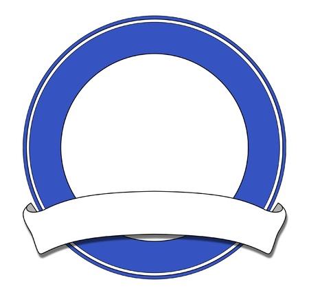margen: La placa circular de color azul con blanco de desplazamiento
