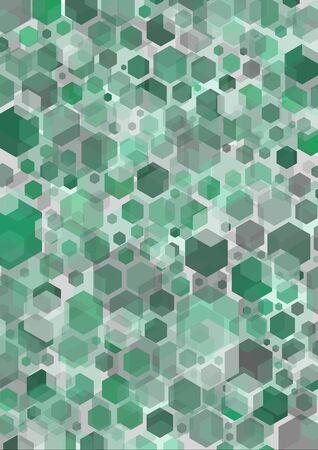 seventies: Green hexagonal shapes