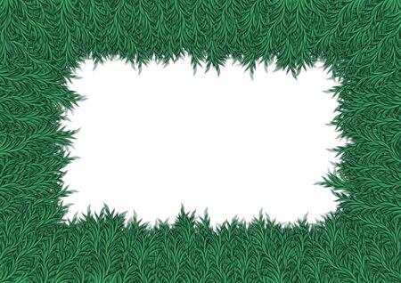 plantlife: Frame made of Illustrated plants