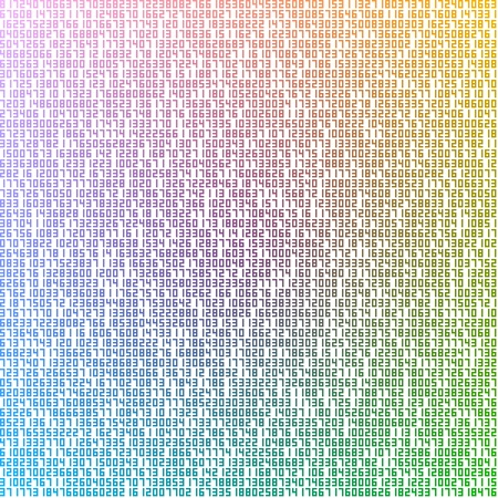 Abstract illustration of colourful numbers Stock Illustration - 12020859